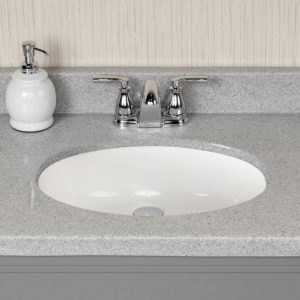 """Riverbed 61""""W x 19""""D x 11""""H Cultured Marble Vanity Top with Oval Bowl"""