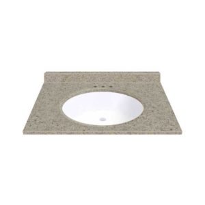 """Sandstone 31""""W x 19""""D x 11""""H Cultured Marble Vanity Top with Oval Bowl"""