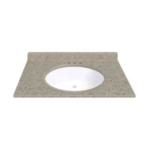 """Sandstone 37""""W x 19""""D x 11""""H Cultured Marble Vanity Top with Oval Bowl"""