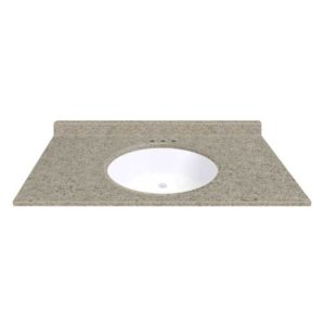 """Sandstone 43""""W x 19""""D x 11""""H Cultured Marble Vanity Top with Oval Bowl"""