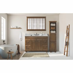 """Cambridge 42""""W x 34""""H Pottery Brown Framed Mirror"""
