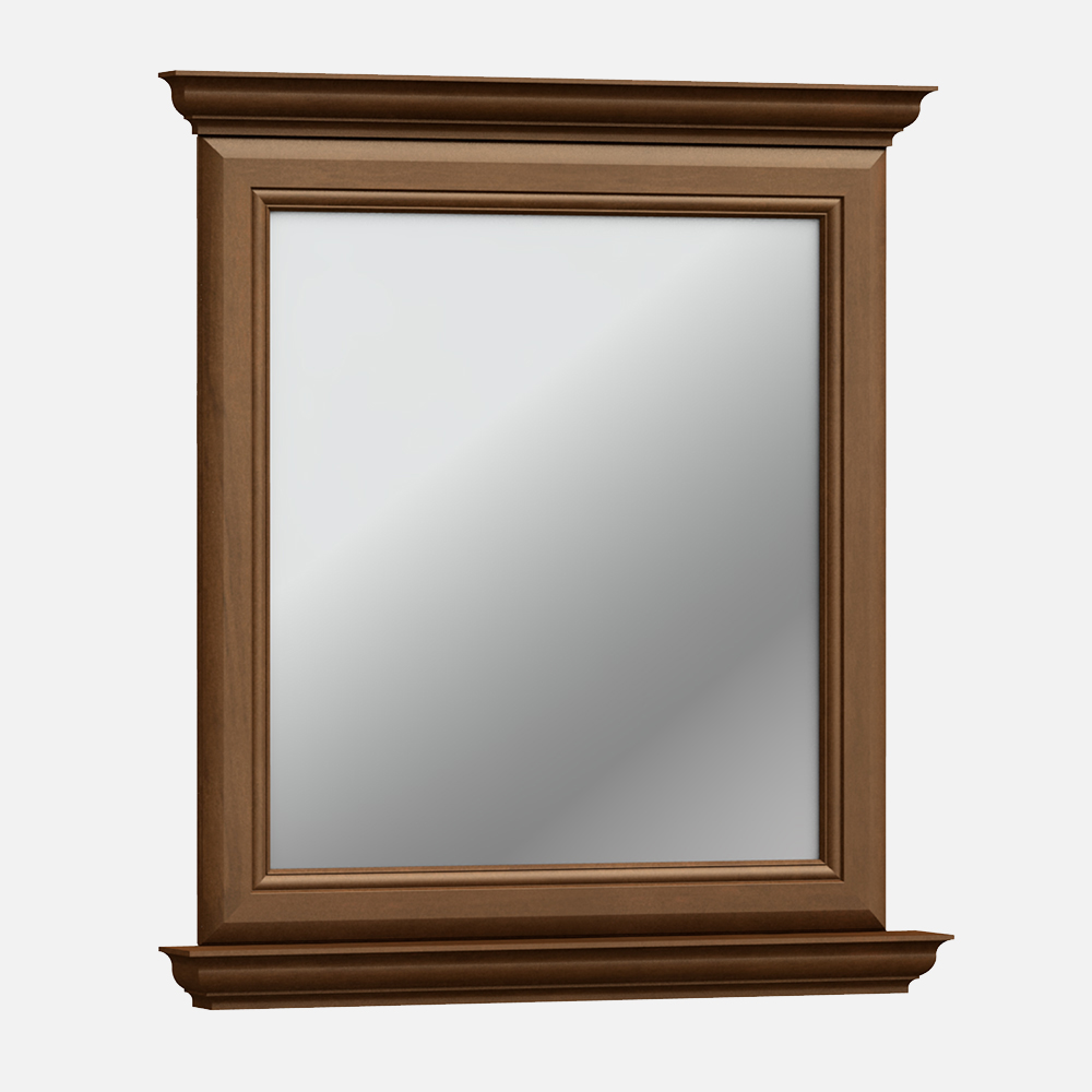 """Cambridge 30""""W x 34""""H Pottery Brown Framed Mirror"""