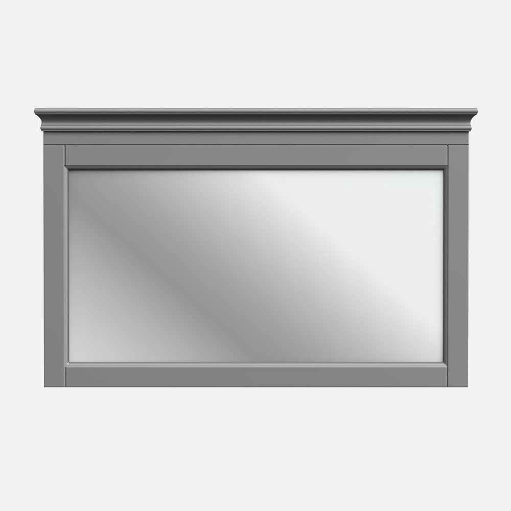 """Chateau 38""""W x 24""""H Matte Pewter Framed Mirror"""