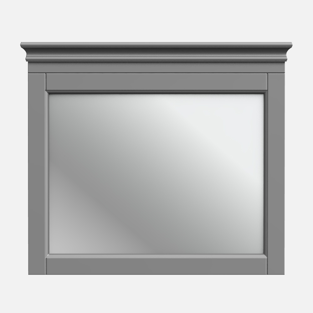 """Chateau 28""""W x 24""""H Matte Pewter Framed Mirror"""