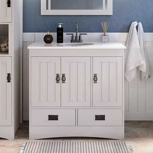 """Indygo10 - Bath Vanity Without Top - Bella Scene 36"""" in Base"""